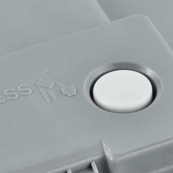 Химическа къмпинг тоалетна SUPREME копче за налягане